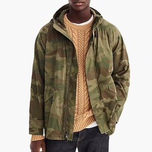 J Crew Wallace & Barnes Hooded Jacket - Camo